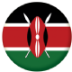 Kenya Country Flag 25mm Flat Back